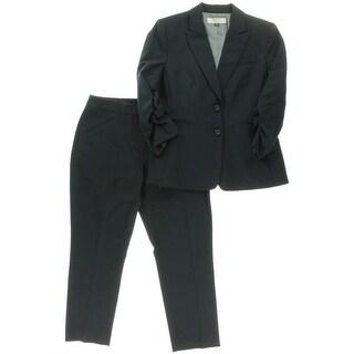 Tahari ASL Womens Petites Helene 2PC Ruched Pant Suit