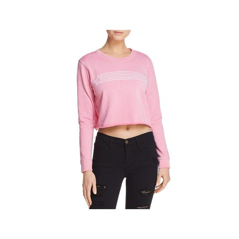 Desert Dreamer Womens Star Streak Sweatshirt, Crew Cropped Raw Hem