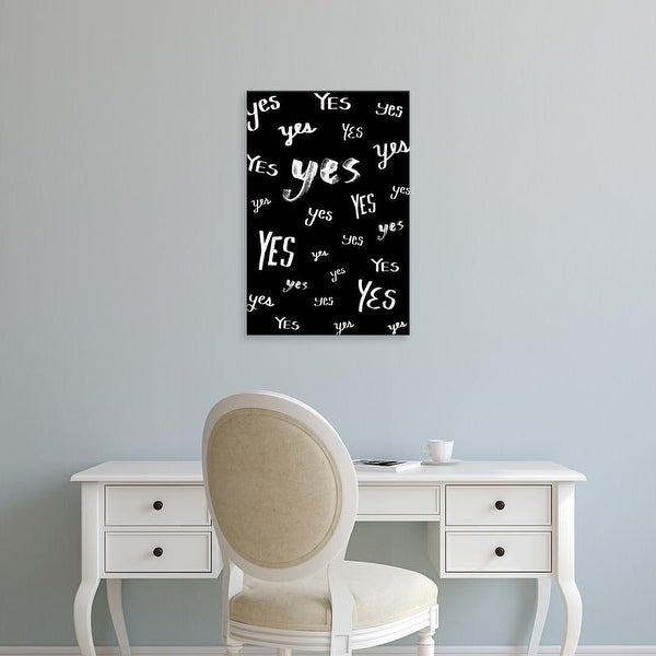 Easy Art Prints 'Yes' Premium Canvas Art