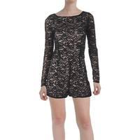 Aqua Womens Romper Lace Long Sleeves