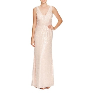 Vera Wang Womens Formal Dress Mesh Sequined
