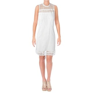 Aqua Womens Casual Dress Circle Lace Sleeveless