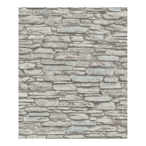 Kamen Brown Stone Wallpaper - 20.5 x 396 x 0.025