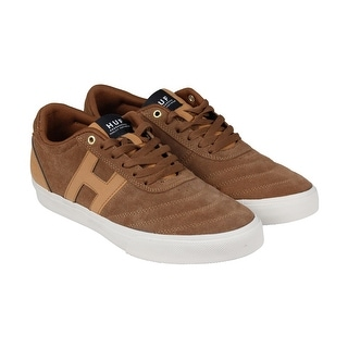 HUF Galaxy Mens Brown Suede Lace Up Sneakers Shoes