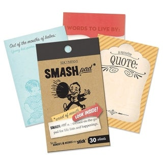K&Company Smash Word Of Mouth Quotes Smash List Pad, 30 Pages - multi- color
