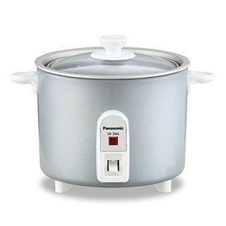 Panasonic SR-3NAL Mini-Rice Cooker, Non-Stick Pan with Glass Lid & 1.5 cup