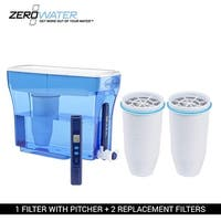 ZERO Water 23 Cup Pitcher Bundle-- (2 Pack) Ion Exchange Water Dispenser
