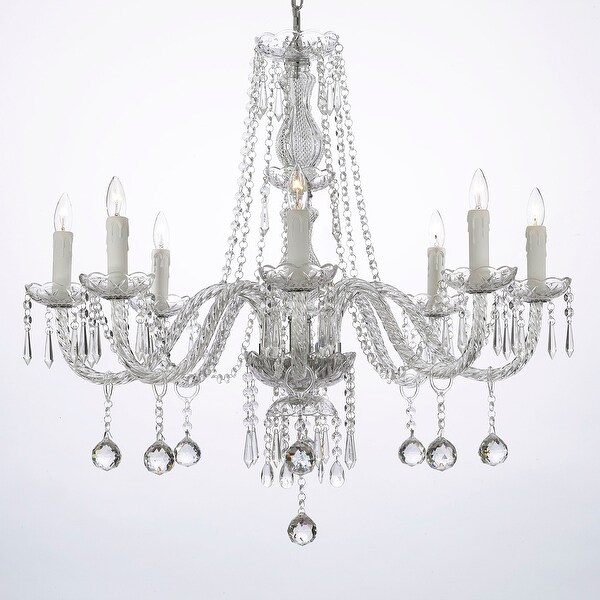 Shop crystal ball chandelier lighting 8 light fixture free crystal ball chandelier lighting 8 light fixture aloadofball Gallery
