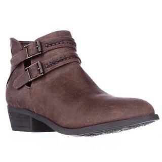 Carlos by Carlos Santana Laney Double Strap Ankle Boots - Cognac