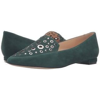 Nine West Womens Akeelah Suede Pointed Toe Loafers