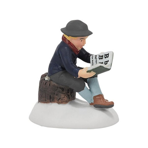 """Department 56 Snow Village """"All Is Safe Where All Can Read"""" Accessory #4036534 - black"""