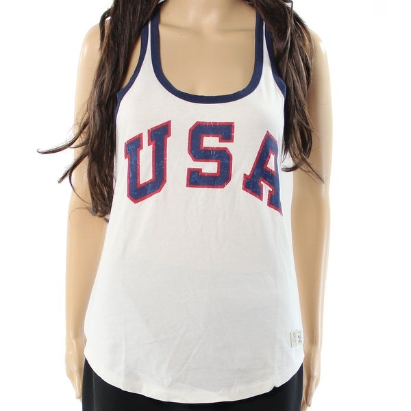 Shop Polo Ralph Lauren NEW White Women s Size XL Graphic Team USA Tank Top  - Free Shipping On Orders Over  45 - Overstock - 16750013 c798ae1a56