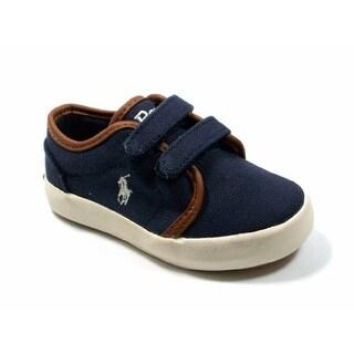 Polo Ralph Lauren Kids Ethan Low EZ Sneaker (Toddler/Big Kid),Navy,6 Toddler