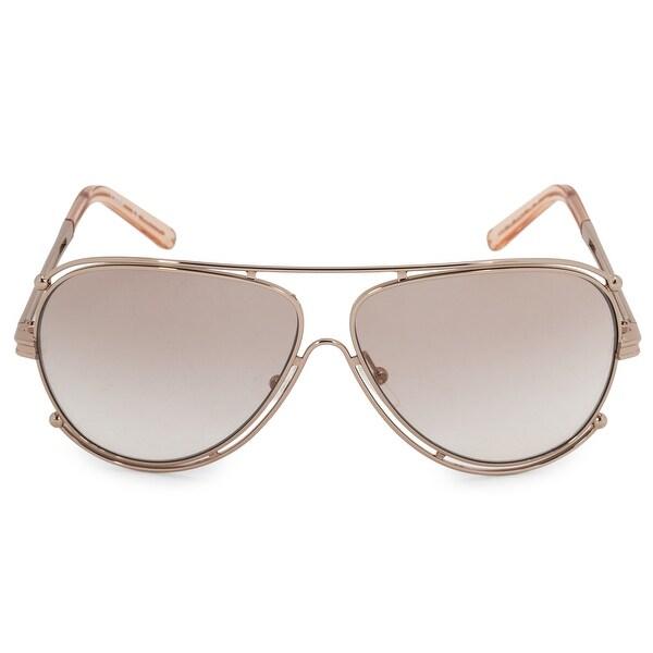 2d6e8e8e48ed Shop Chloe Isidora Aviator Sunglasses CE121S 785 61 - On Sale - Free ...