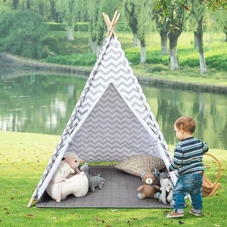 Link to 5.2' Portable Kids' Indian Play Tent - White Similar Items in Outdoor Play