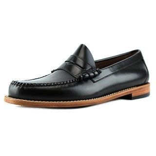 GH Bass & Co Larson Men Round Toe Leather Black Loafer