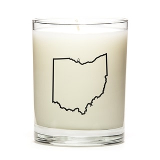 Custom Candles with the Map Outline Ohio, Eucalyptus