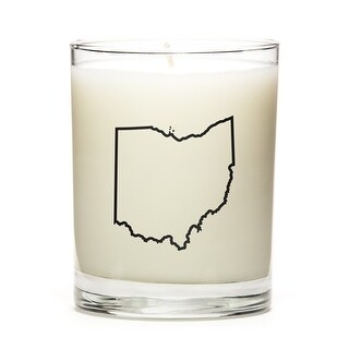 State Outline Candle, Premium Soy Wax, Ohio, Lavender