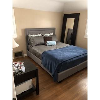 Baffin, Queen Size, Grey Linen Platform Bed