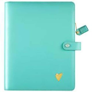 "Light Teal - Color Crush A5 Faux Leather Composition Planner 7.5""X10"""