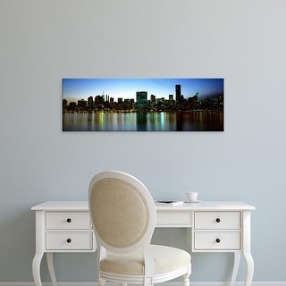 Easy Art Prints Panoramic Images's 'Skyscrapers In A City, NYC, New York City, New York State, USA' Premium Canvas Art