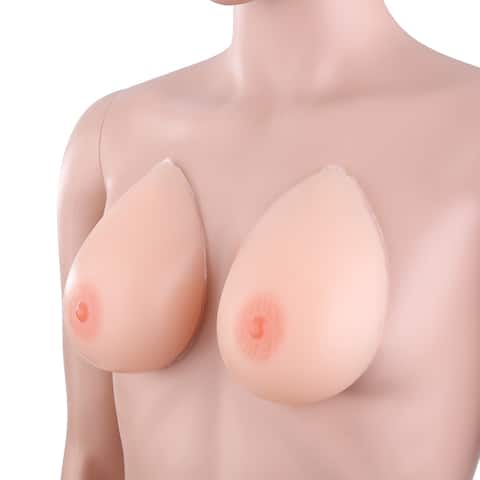 Waterdrop Shaped Self-adhesive Medical Silicone Breast Forms - Nude Color - Size-C