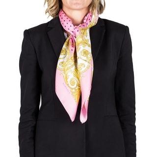 Versace Women's Silk Baroque Pattern Polka Dot Scarf