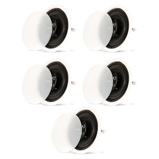 "Theater Solutions CS83C In Ceiling 3-Way 8"" Speakers Home Theater 5 Speaker Set"