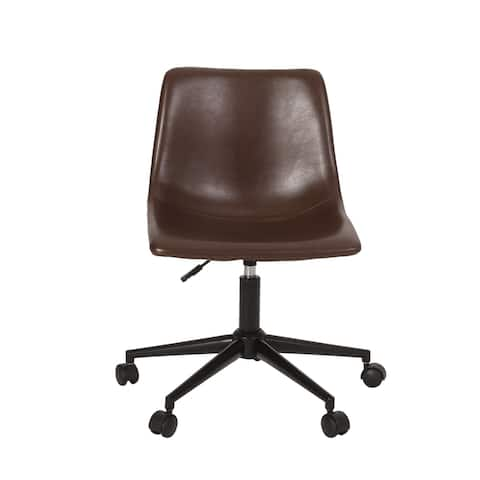 Jarvi Upholstered Swivel Office Chair by Christopher Knight Home