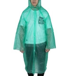 Unique Bargains Green Disposable Emergency Plastic Raincoat Rain Coat for Adult