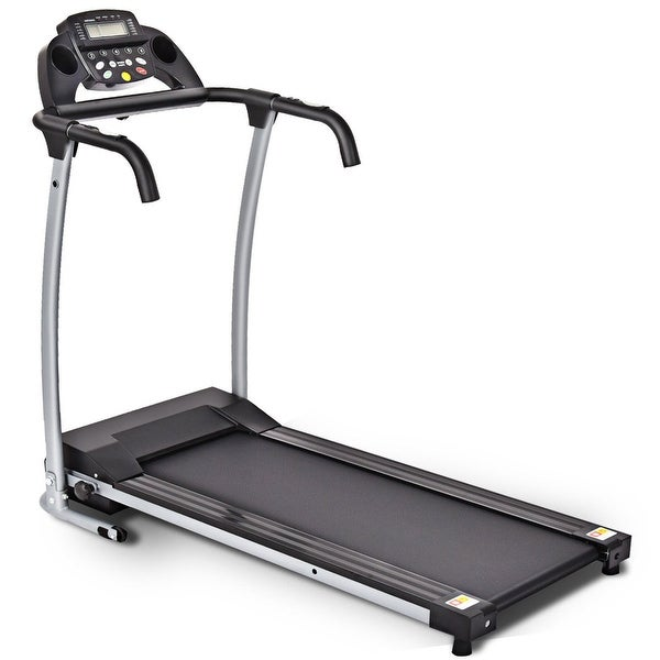 Costway 800W Folding Treadmill Electric Portable Motorized Power Running Fitness Machine w/support - Black