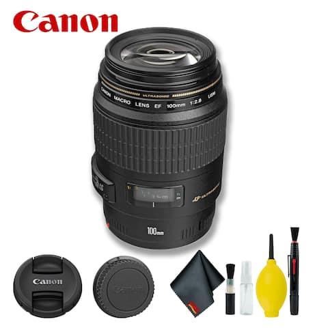 Canon EF 100mm f/2.8 Macro USM Lens (Intl Model) Bundle