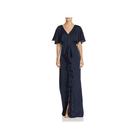 Adrianna Papell Womens Formal Dress Satin Capelet
