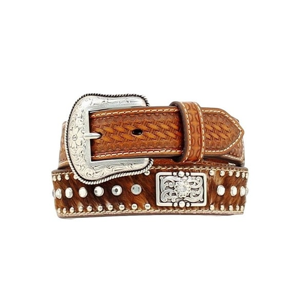 Shop Nocona Western Belt Kids Child Leather Hair Rhinestones Brown - Free  Shipping On Orders Over  45 - Overstock.com - 15444441 101720f59114