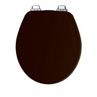 Bemis 30CHSL 047 Black Round, Molded Wood Toilet Seat