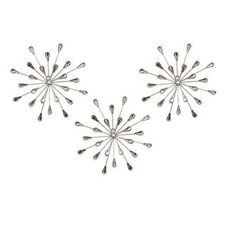 Shop Set Of 3 Acrylic Burst Wall Decor Free Shipping Today Overstock 24244154