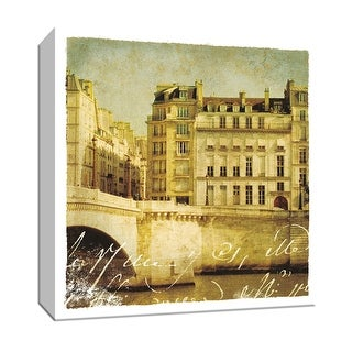 "PTM Images 9-152771  PTM Canvas Collection 12"" x 12"" - ""Golden Age of Paris III"" Giclee Houses Art Print on Canvas"
