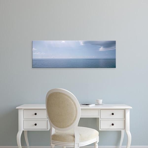 Easy Art Prints Panoramic Images's 'Clouds over the sea, Atlantic Ocean, Bermuda, USA' Premium Canvas Art