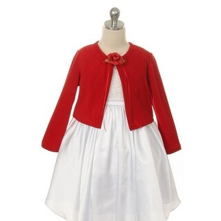 Kids Dream Red Flower Special Occasion Cardigan Sweater Girls 2T