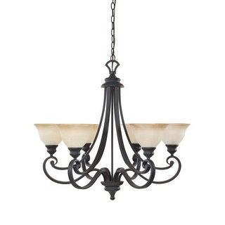 Designers Fountain 96186 Six Light Up Lighting Chandelier from the Barcelona Collection