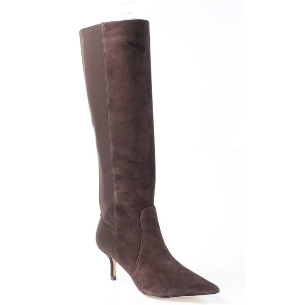 Ivanka Trump NEW Brown Shoes Size 6.5M Knee-High Suede Boots