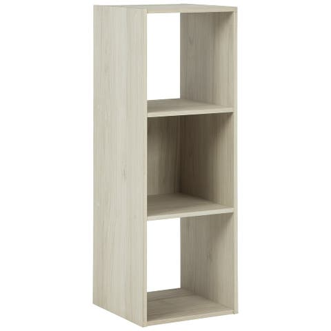 "Socalle Contemporary Natural Three Cube Organizer - 35""W x 12""D x 12""H"