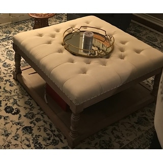 Cairona Tufted Textile 34-inch Shelved Ottoman