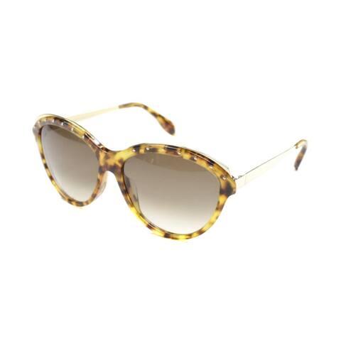 Alexander McQueen AM 4241 2IK Womens Brown Frame Brown Gradient Lens Sunglasses