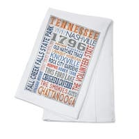 Tennessee - Rustic Typography - LP Artwork (100% Cotton Towel Absorbent)