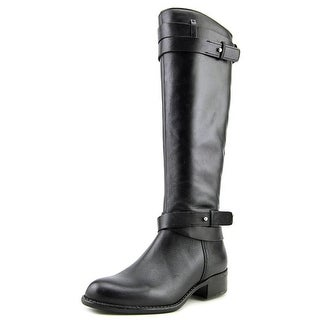 Franco Sarto Canary Women Round Toe Leather Blue Knee High Boot