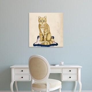 Easy Art Prints Grace Popp's 'Lady Cat IV' Premium Canvas Art