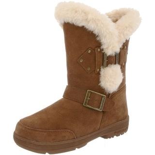 Bearpaw Boots Women Madeline Sheepskin Buckle Rivet 1717W