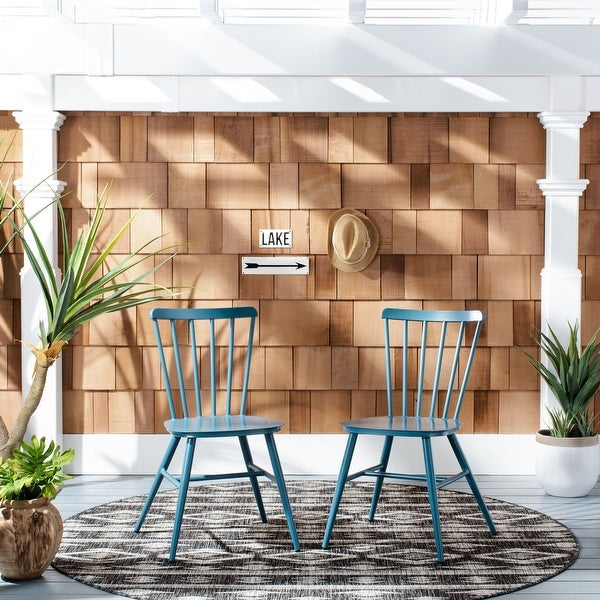 """Safavieh Outdoor Living Chester Stackable Side Chair - 20.1""""x20.9""""x33.5"""". Opens flyout."""