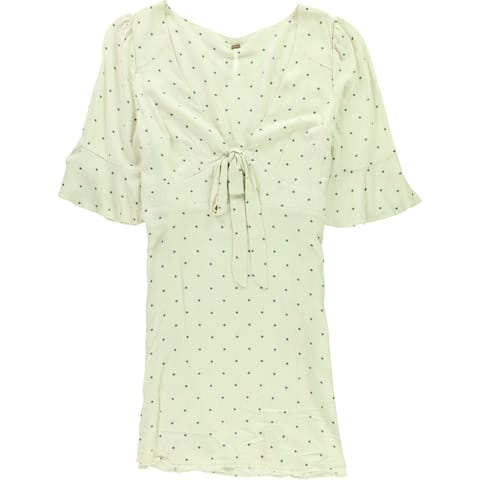 Free People Womens All Yours Mini Dress, Off-white, 10